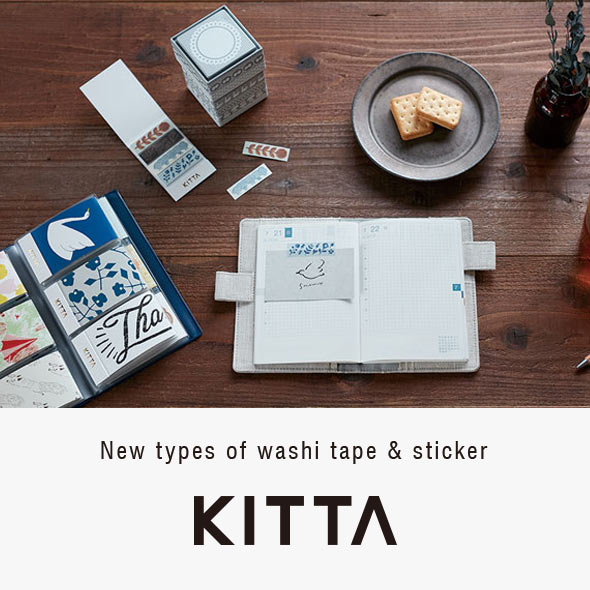 New types of washi tape & sticker KITTA