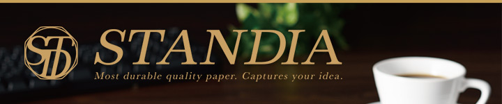 STANDIA  Most durable quality paper. Captures your idea.