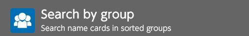 Search by group Search name cards in sorted groups