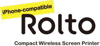 iPhone-compatible Rolto Rolto PT10 Compact Wireless Screen Printer