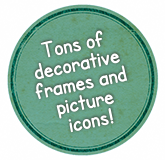 Tons of decorative frames and picture icons!