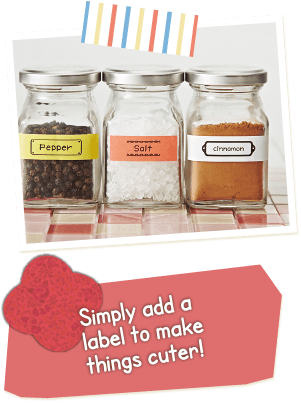 Simply add a label to make things cuter!