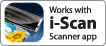 Works with i-Scan Scanner app