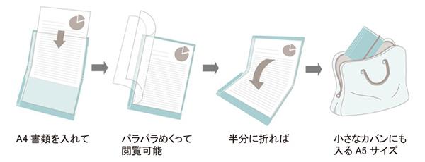 二つ折りクリアーファイル「コンパック」_使い方|KINGJIM
